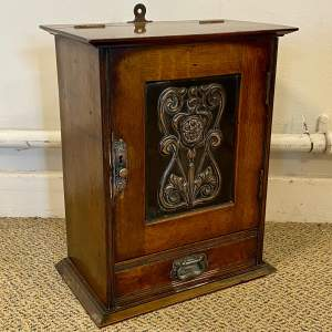Arts and Crafts Oak Smokers Cabinet