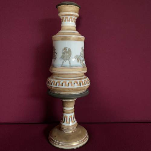 Victorian Opaque Glass Oil Lamp Base image-1
