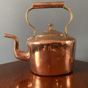 19th Century Oval Copper Kettle
