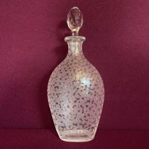 Etched Glass Flask Decanter