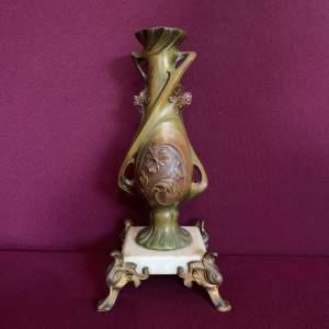 Art Nouveau Spelter Lamp Base