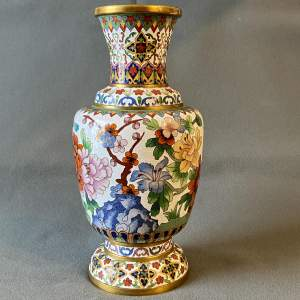 Large Decorative Cloisonné Vase