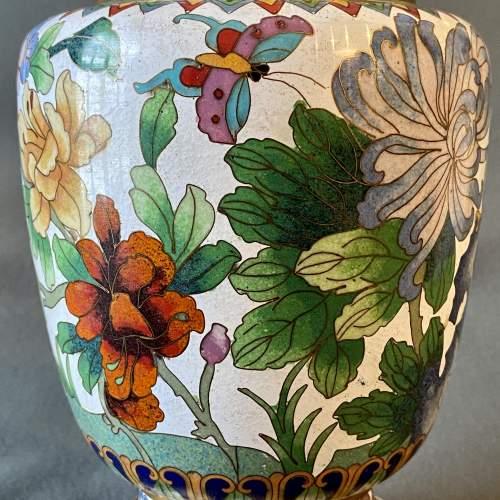 Large Decorative Cloisonné Vase image-2