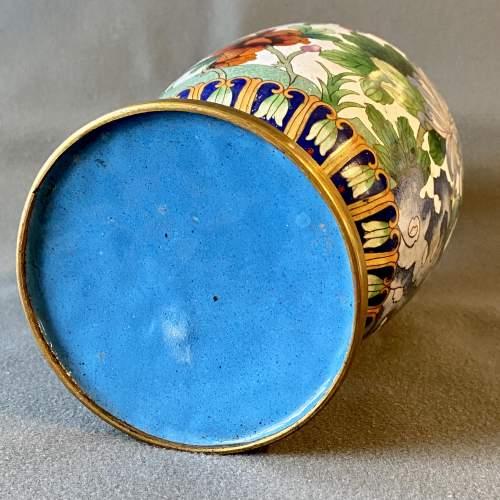 Large Decorative Cloisonné Vase image-5