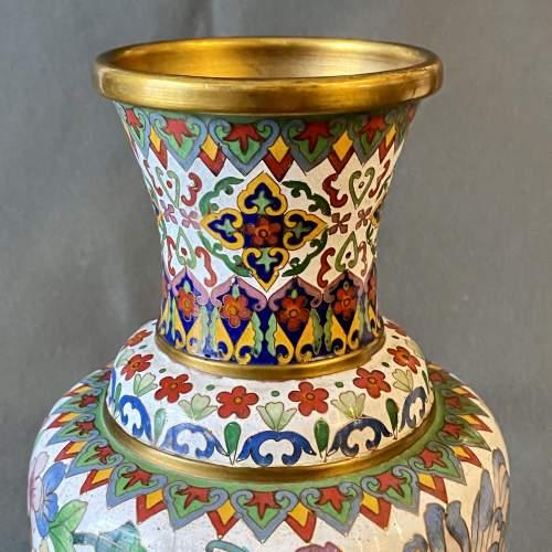 Large Decorative Cloisonné Vase image-3