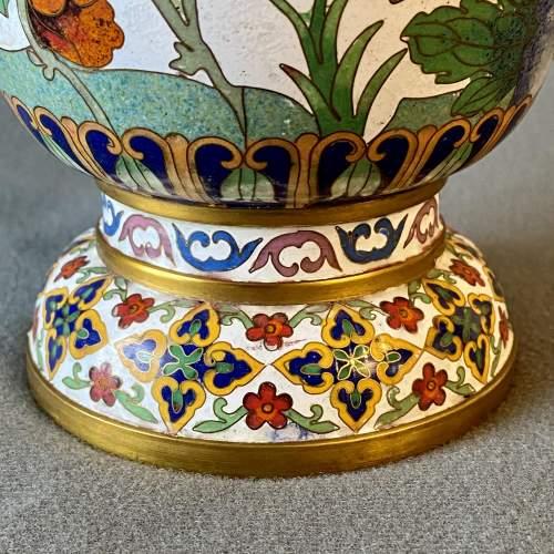 Large Decorative Cloisonné Vase image-4