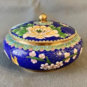 Cloisonné Lidded Bowl