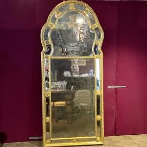 Very Large 19th Century Gilt Plaster Framed Mirror