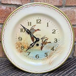 20th Century Smiths Flying Ducks Wall Clock
