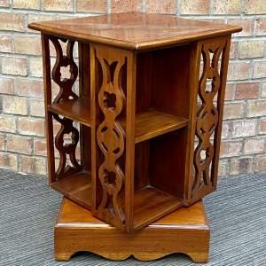 Small Edwardian Walnut Revolving Bookcase