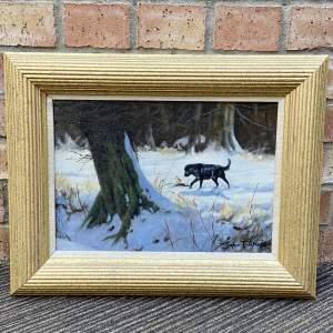 Winter Shoot by John Trickett - Original Oil Painting on Panel