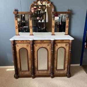 Victorian Inlaid Walnut Sideboard