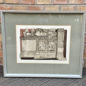 Cain and Abel St. Giles by Valerie Thornton - Etching and Aquatint