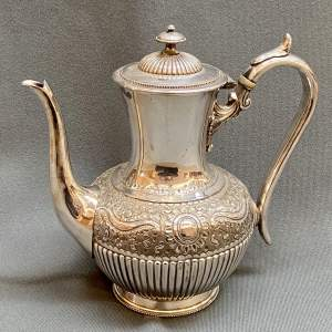 Late 19th Century Silver Plated Coffee Pot