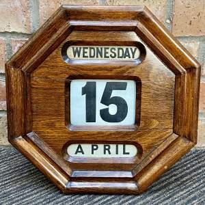 Victorian Oak Perpetual Calendar