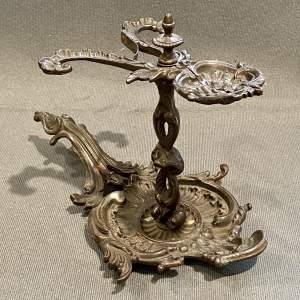 Rare Highly Decorative Victorian Iron Wax Jack