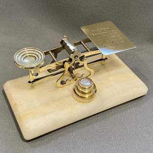 Set of Brass Victorian Postal Scales