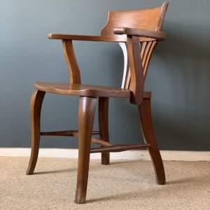 1920s Vintage Oak Office Chair
