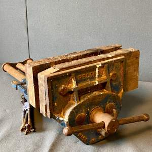 Original Vintage Wood-Working Vice By Record