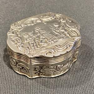 19th Century Highly Decorative Small Silver Box