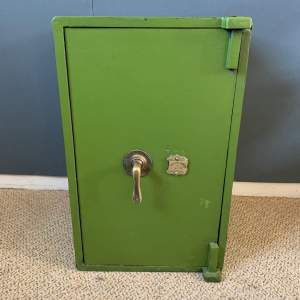 20th Century Green Painted Safe