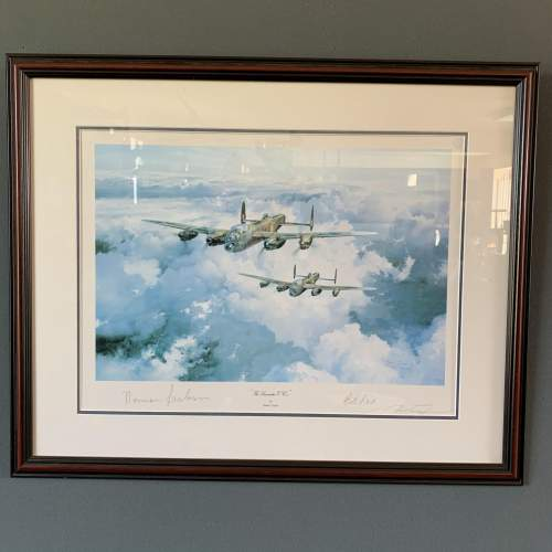 Framed and Signed Print of The Lancaster VCs image-1