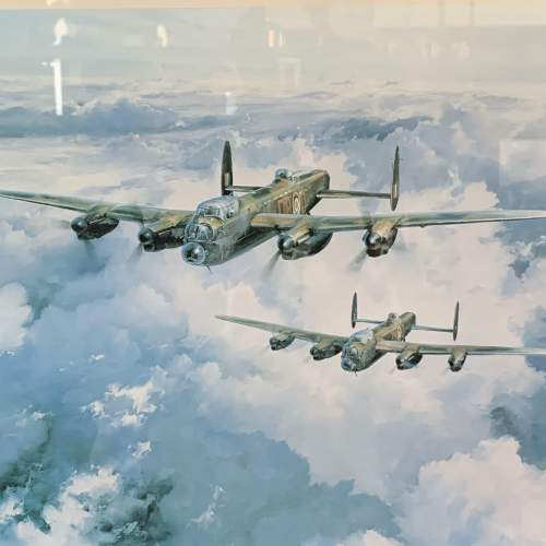Framed and Signed Print of The Lancaster VCs image-2