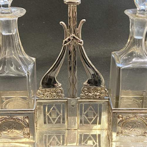 Unusual Silver Oil and Vinegar Bottle Stand image-2