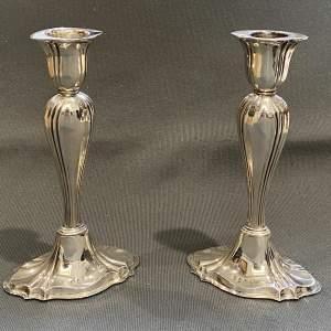 Edwardian Pair of Silver Candlesticks