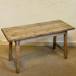 Rustic Oblong Pine Coffee Table