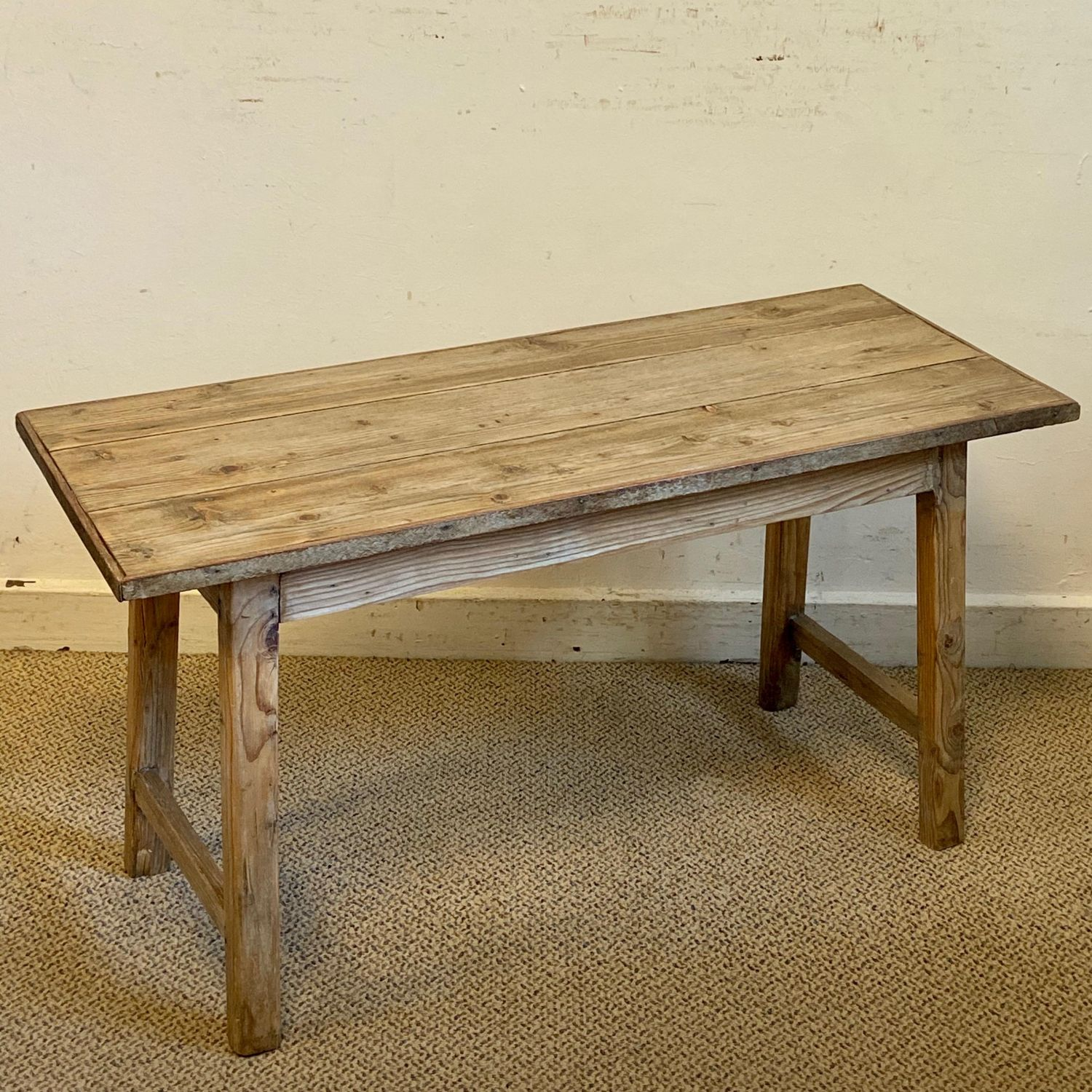 - Rustic Oblong DPine Coffee Table - Pine Tables - Hemswell Antique