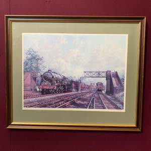 Limited Edition Print of Scots Guardsman on a Down Express