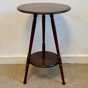 Edwardian Mahogany Tripod Side Table