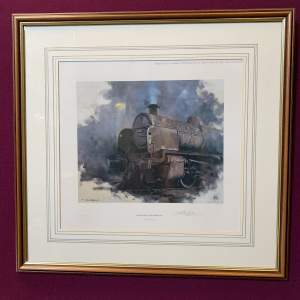 Signed Print by David Shepherd of On The Shed at Guildford in the Last Days of Southern Region