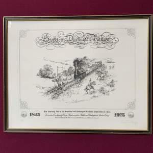 Stockton and Darlington Railway Signed Print