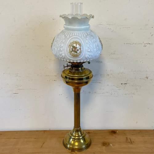 Victorian Brass Oil Lamp image-1
