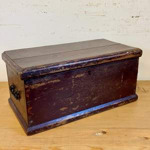 Small Victorian Painted Pine Box