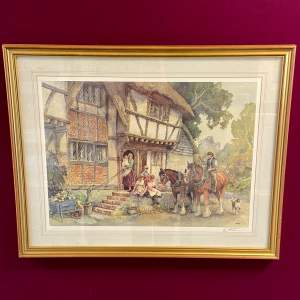 Off to Work by E.R. Sturgeon - Framed Limited Edition Print