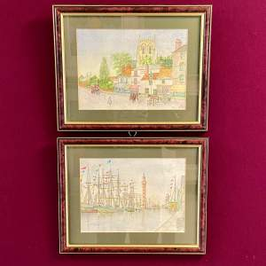 Pair of 20th Century Watercolours of Grimsby Scenes