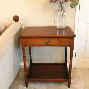 Antique English Oak Low Boy or Lamp Table