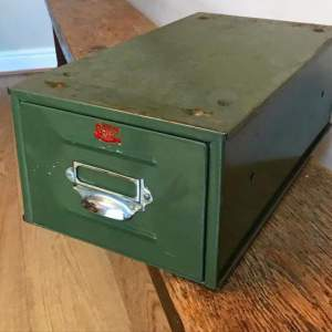 Veteran Series Industrial Metal Index Card Filing Box