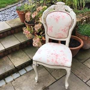 French Louis Style Occasional Bedroom Chair