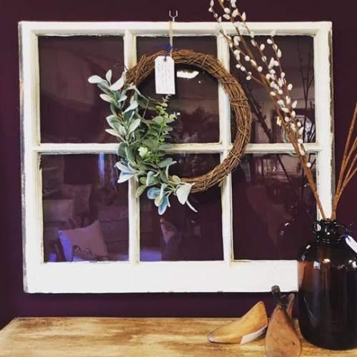 100 Year Old Sash Window with Wreath image-1