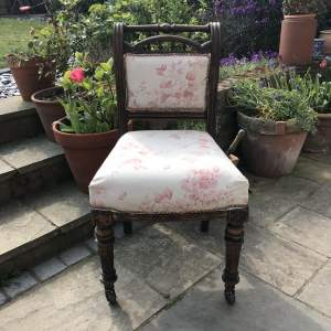 Victorian Occasional Chair on Castors