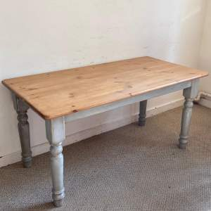Pine Topped Farmhouse Table