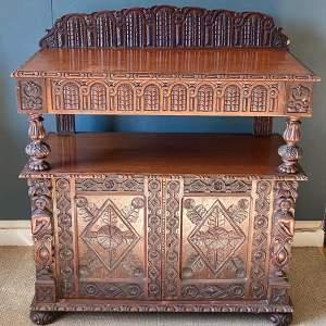 19th Century Heavily Carved Oak Cupboard