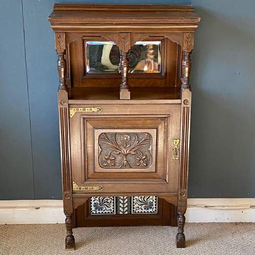 Arts and Crafts Oak Cabinet image-2