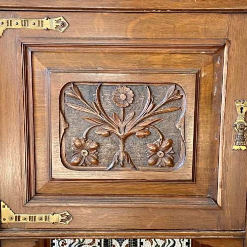 Arts and Crafts Oak Cabinet image-3