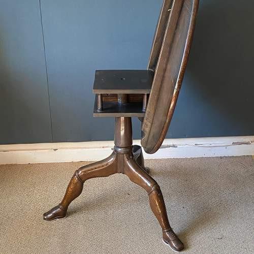 Rare George II Oak Carved Tilt Top Table with Shoe Feet image-4