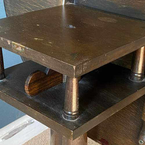 Rare George II Oak Carved Tilt Top Table with Shoe Feet image-6